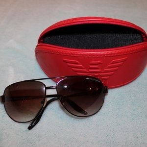 Armani Exchange Brown Sunglasses with Case